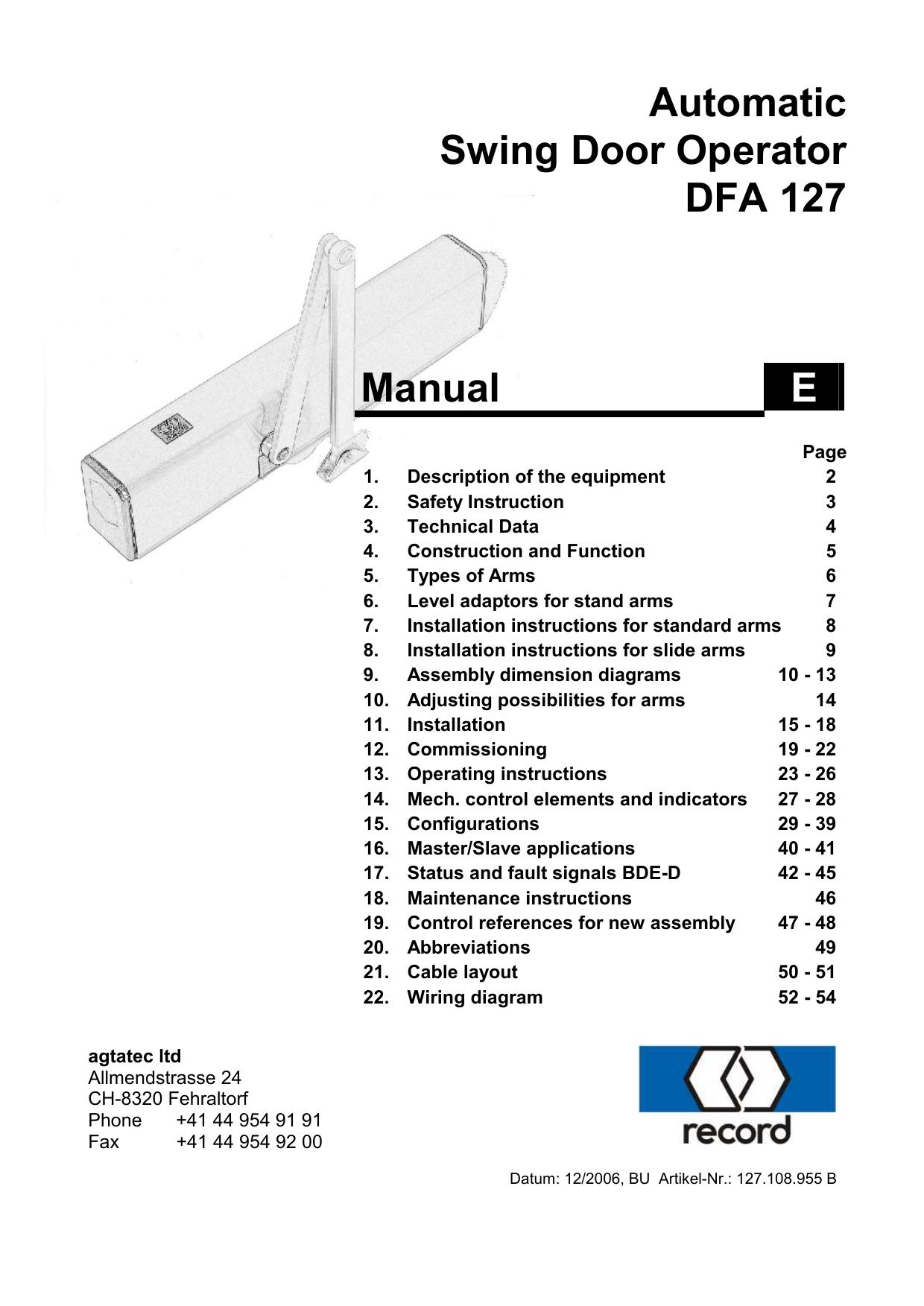 Record Dfa 127 Wiring Diagram on