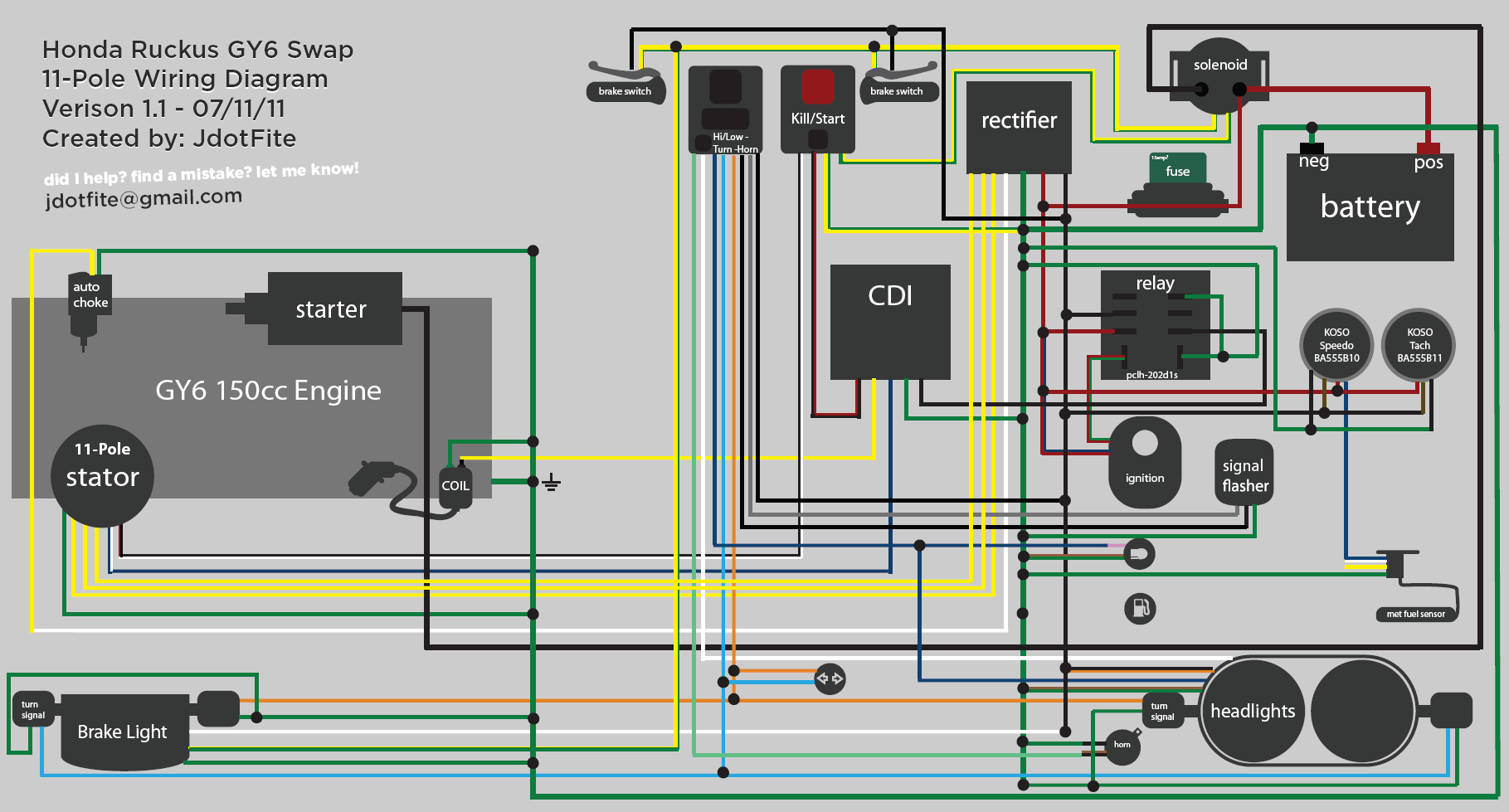 110 Roketa Wiring Diagram