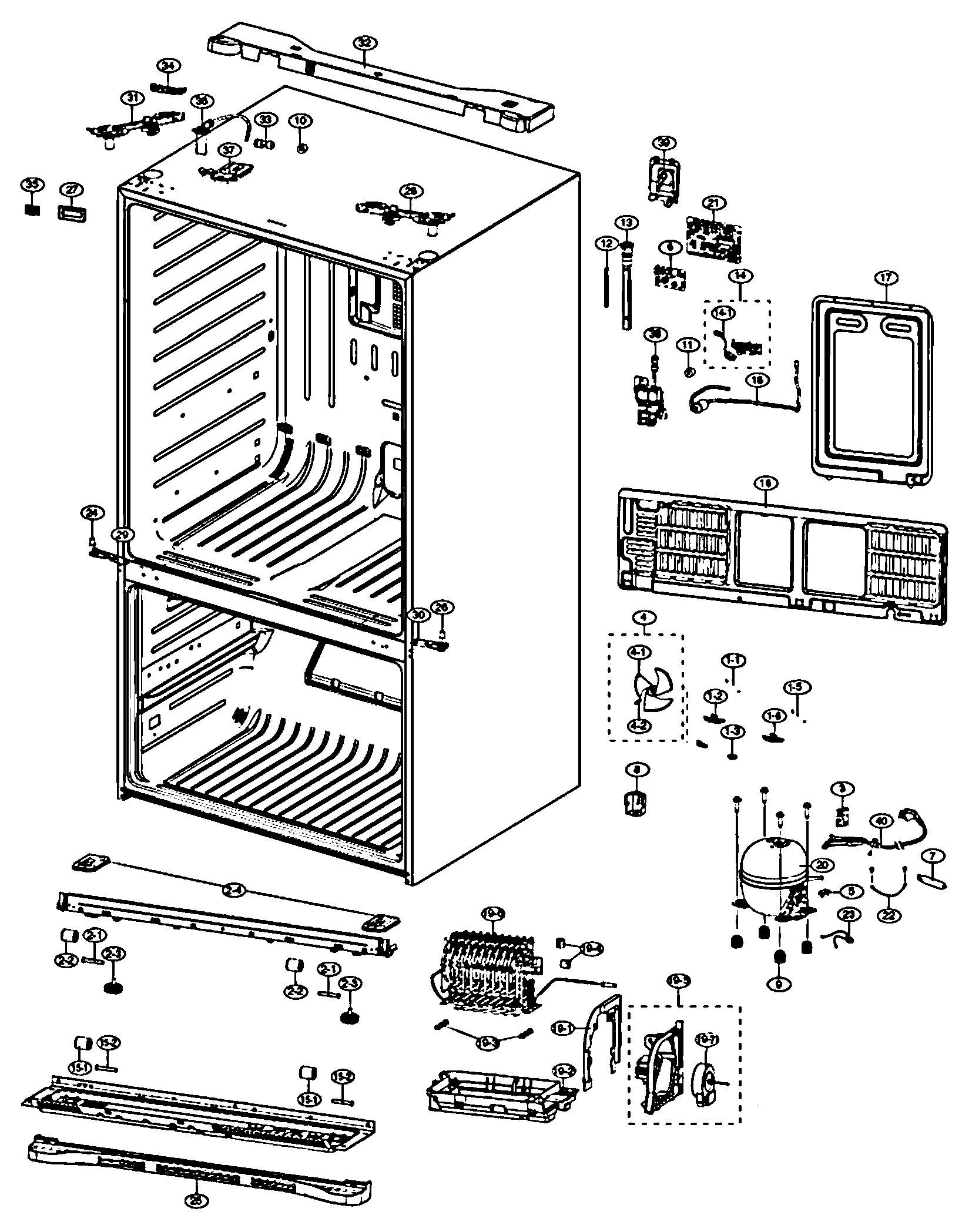 Samsung Rs2530bbp Parts Diagram
