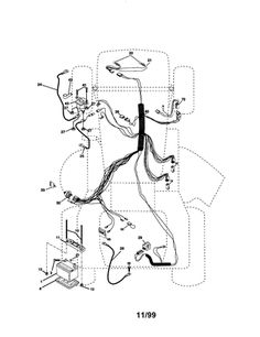 Sears Tractor 6600 Wiring Diagram on