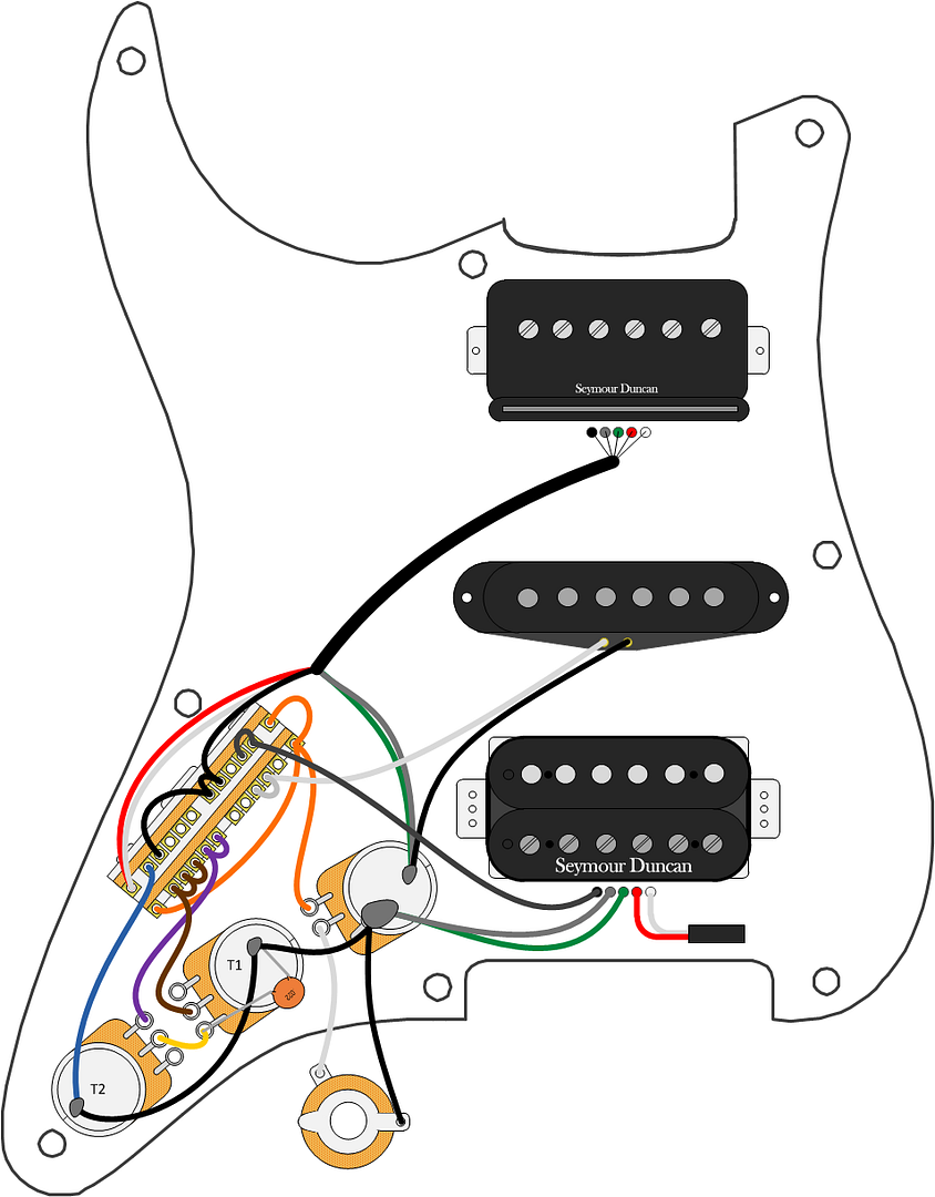 Duncan Wiring Chart To Convert From Sd To Fender Wiring