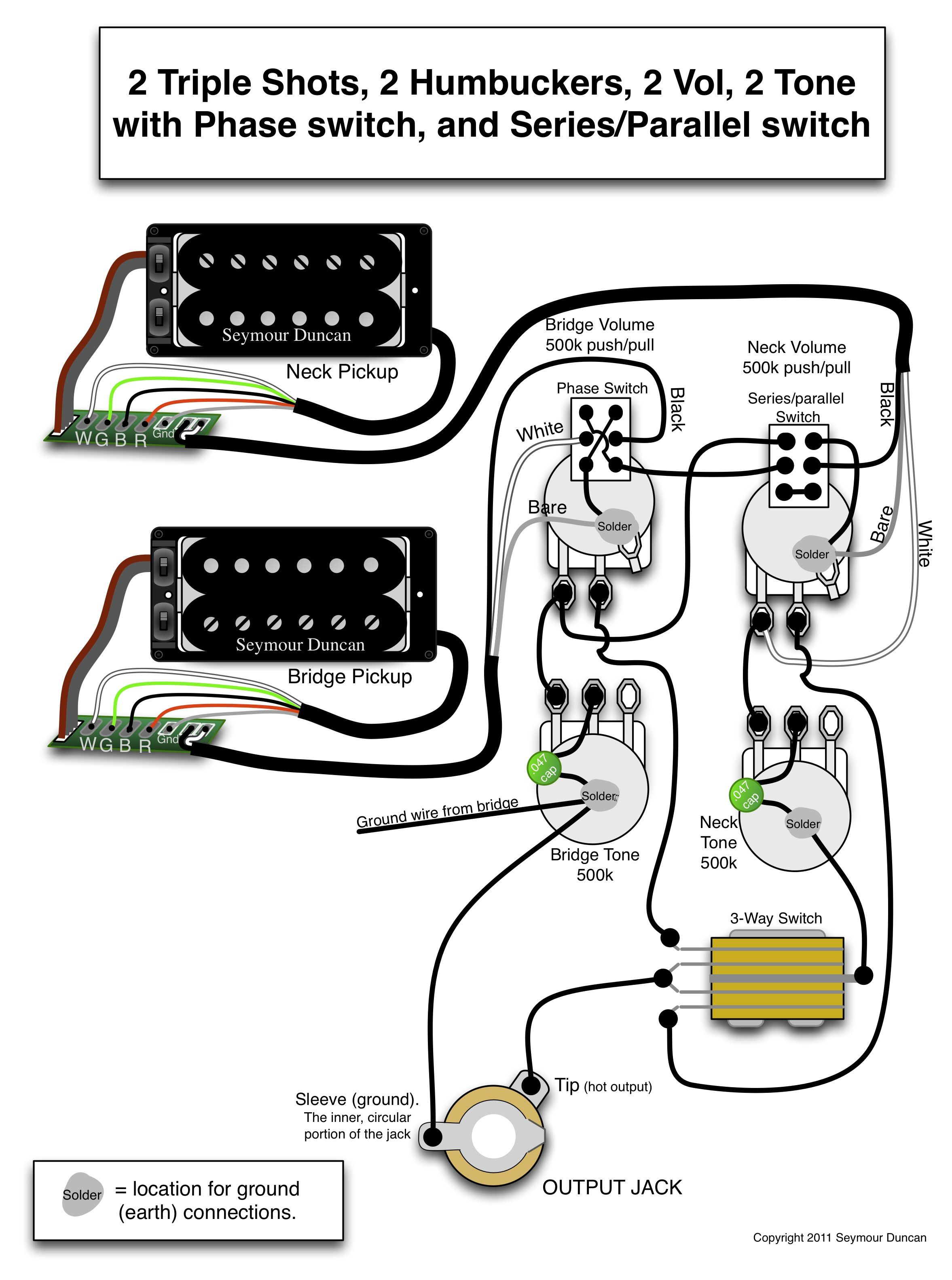 seymour duncan pickup triple shot wiring diagram