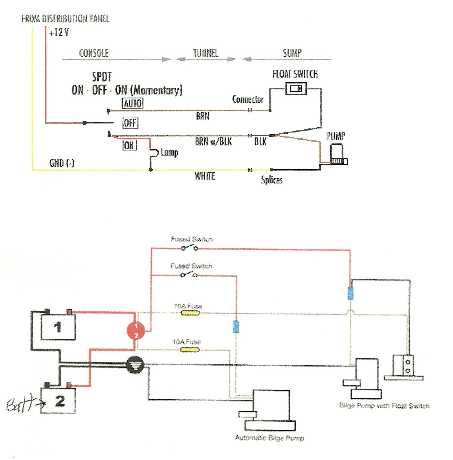 Shoreline Marine Bilge Pump 3 Way Switch Wiring Diagram