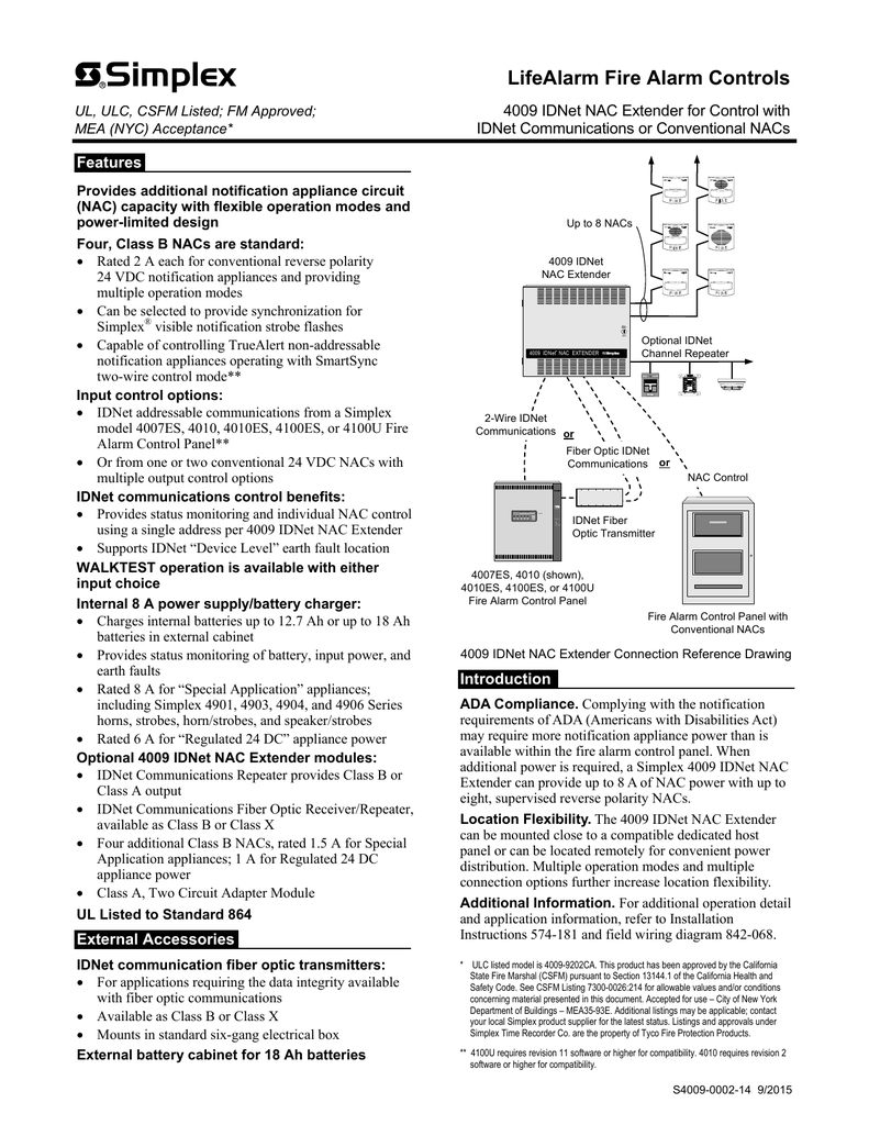 Simplex 4100u Wiring Diagram