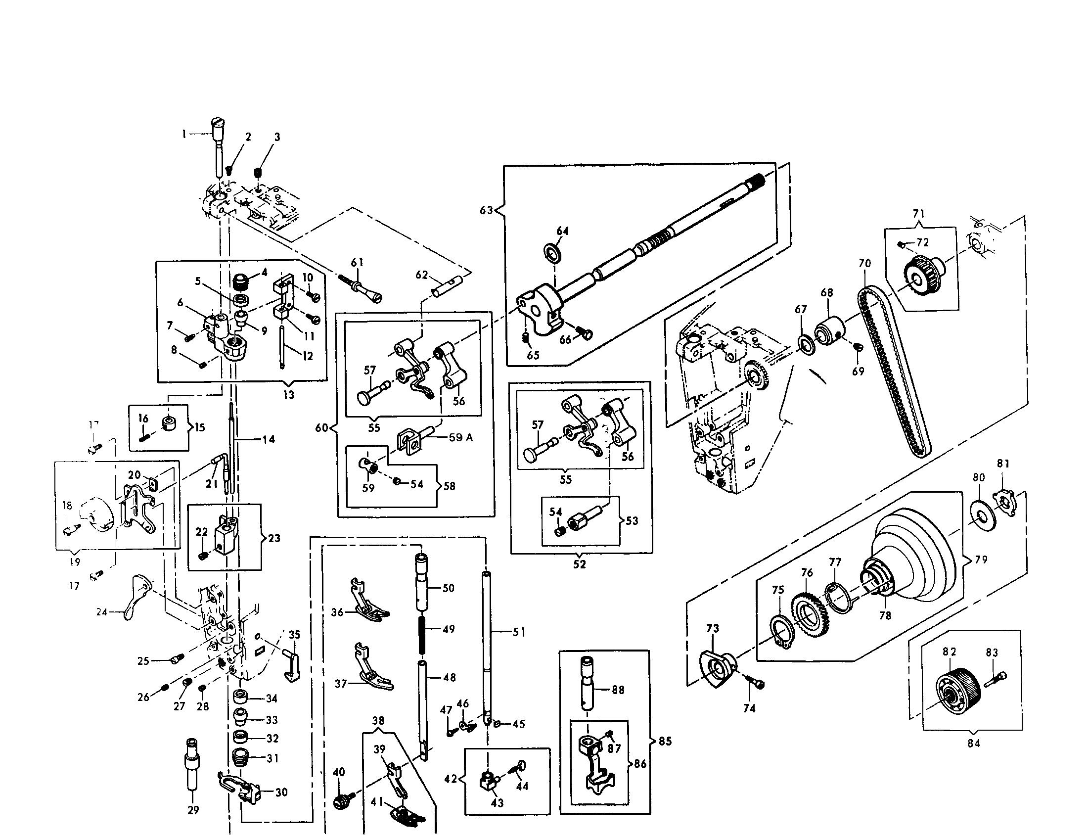 Singer 401a Parts Diagram