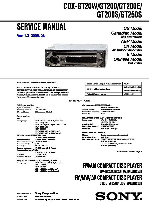 diagram wiring cdx sony for diagram faceplate xplod gt10w