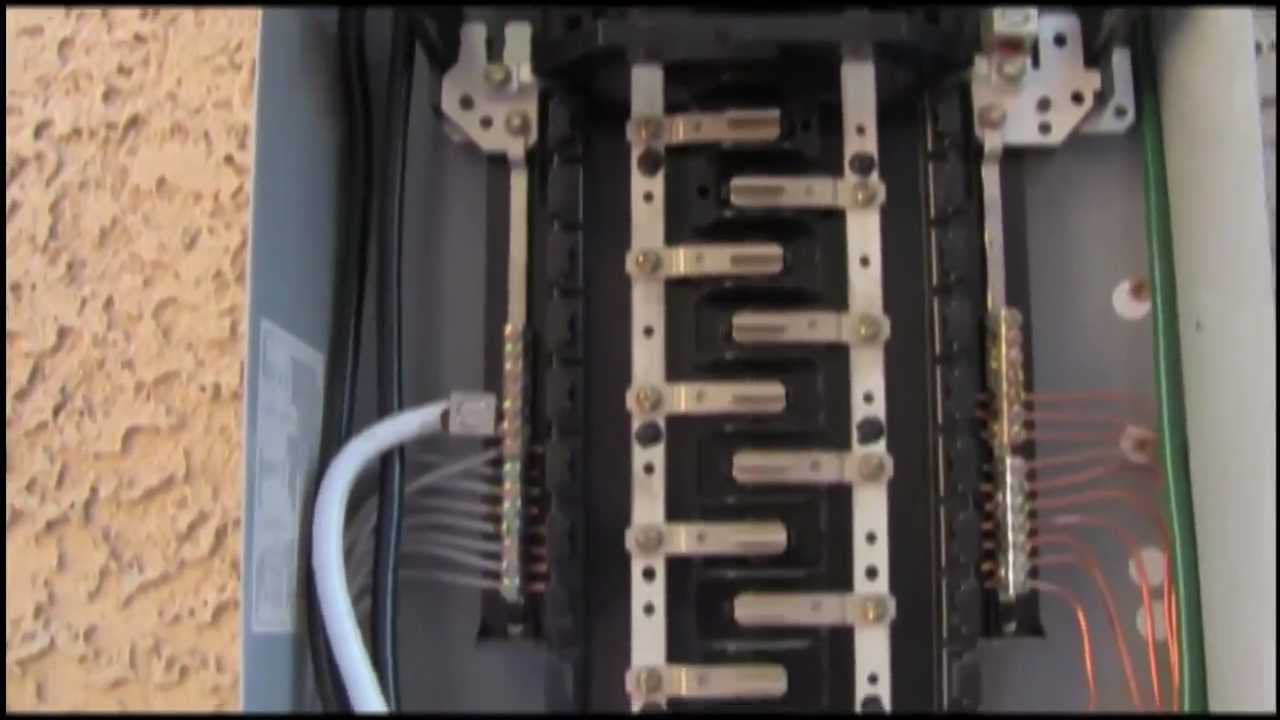 Square D Homeline 100 Amp Subpanel Wiring Diagram