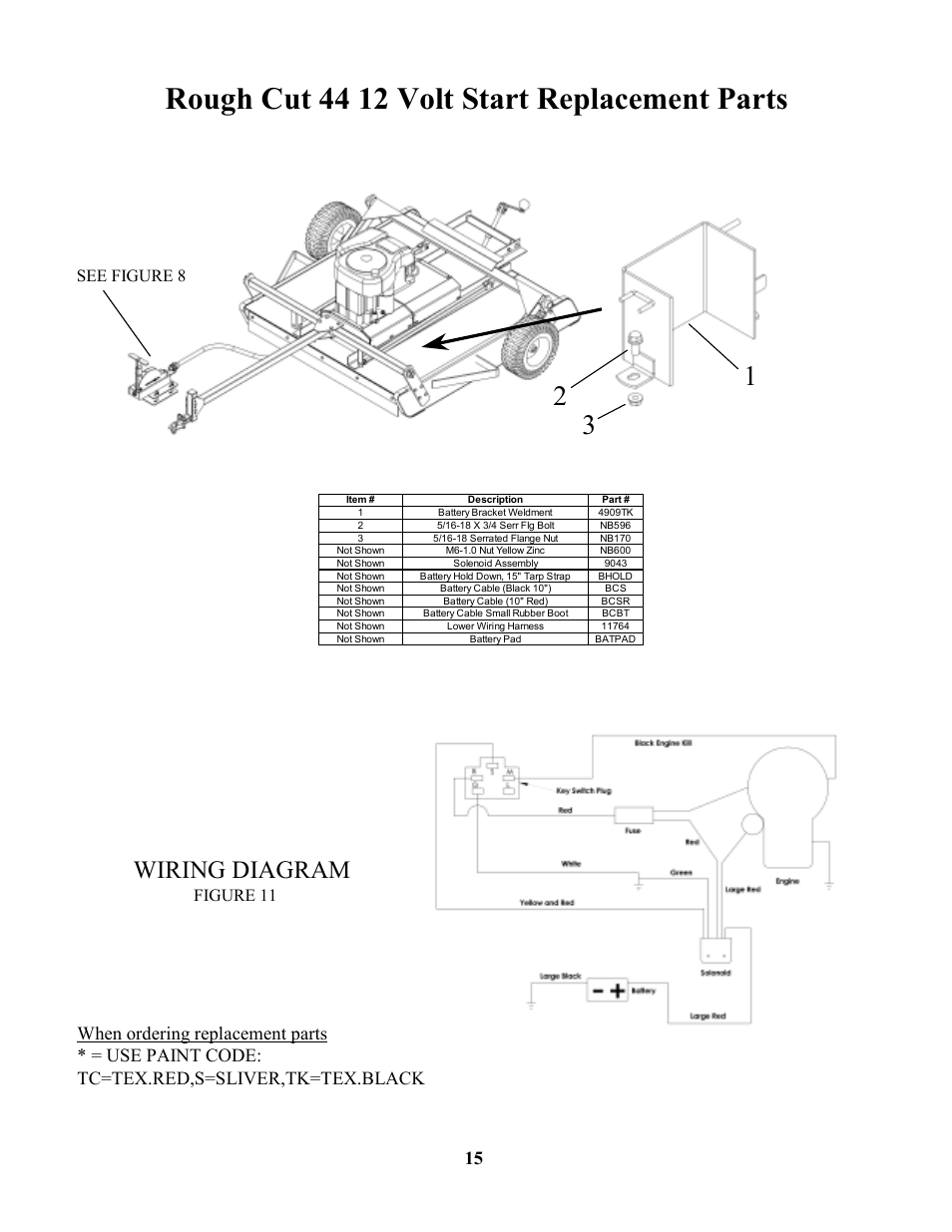Swisher 44 Rough Cut Wiring Diagram