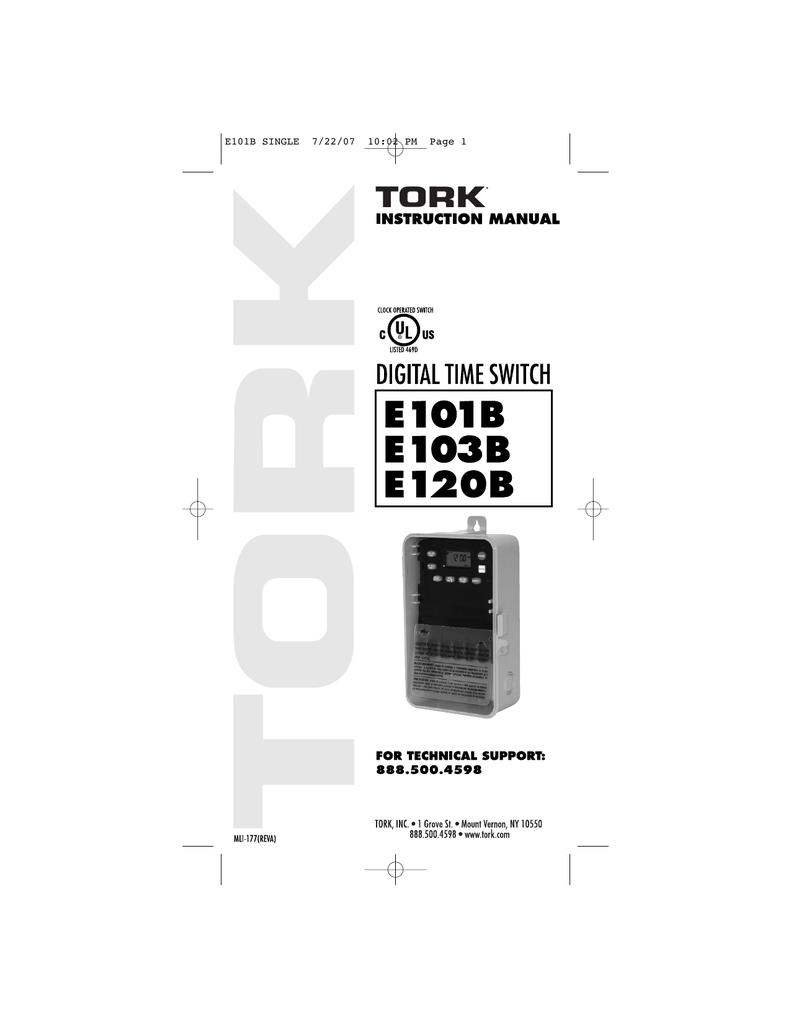 Tork E103b Wiring Diagram