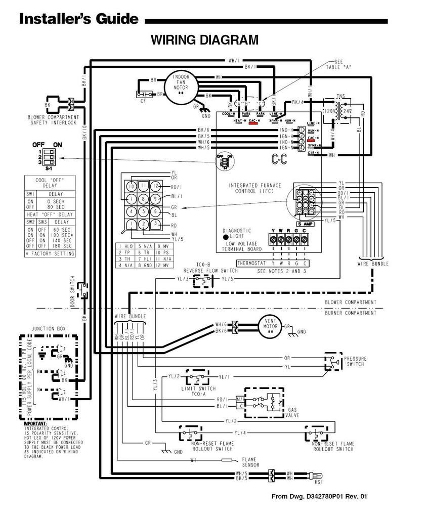 Trane Xv80 Furnace Wiring Diagram