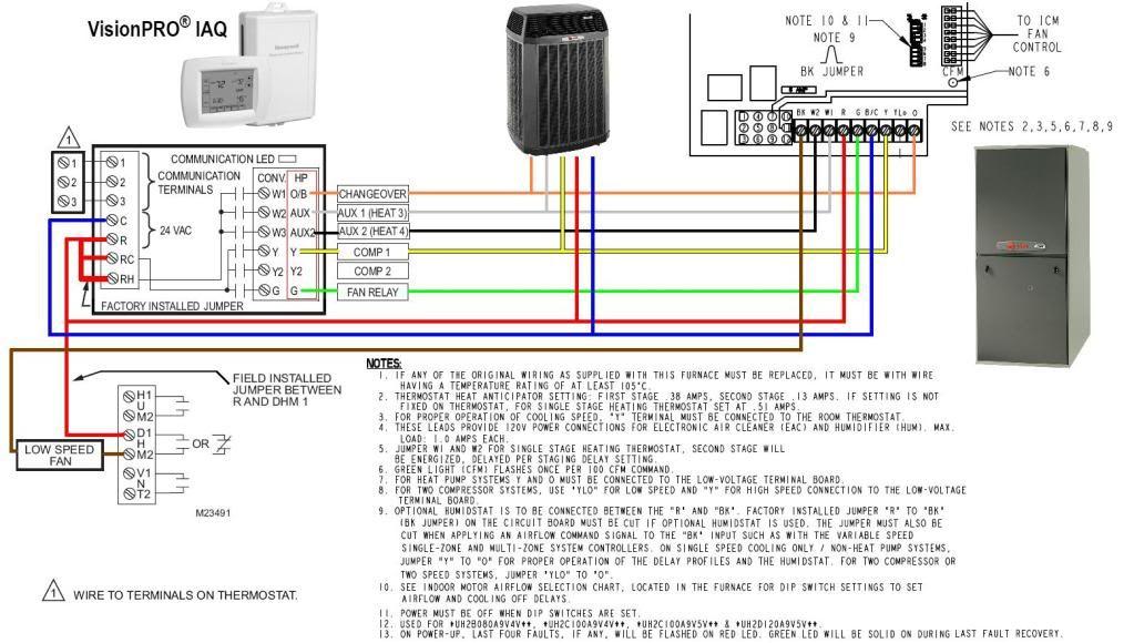 Trane Thermostat Wiring Diagram from diagramweb.net