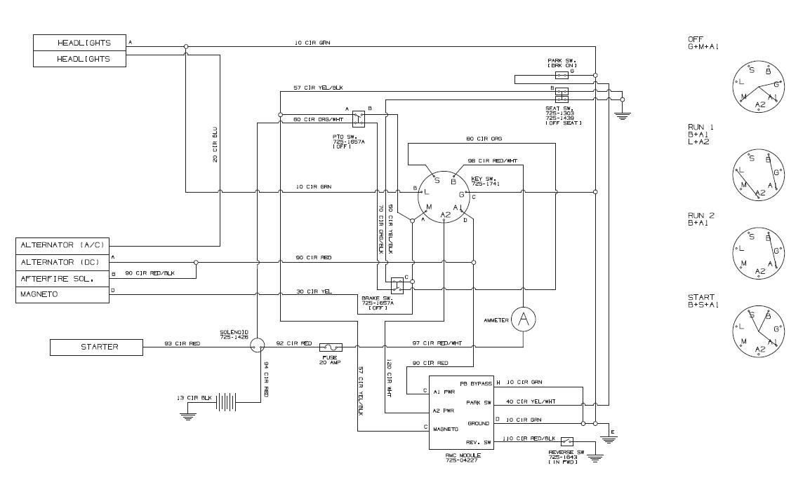 Troy Bilt Bronco 13av60kg011 Wiring Diagram Yard King Wire Diagram on