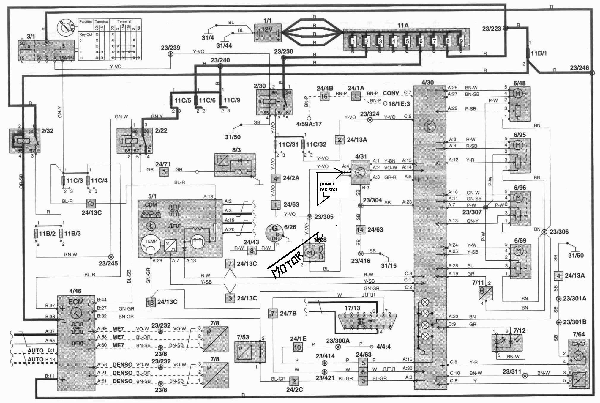 Volvo 2006 S40 Cem Module Wiring Diagram
