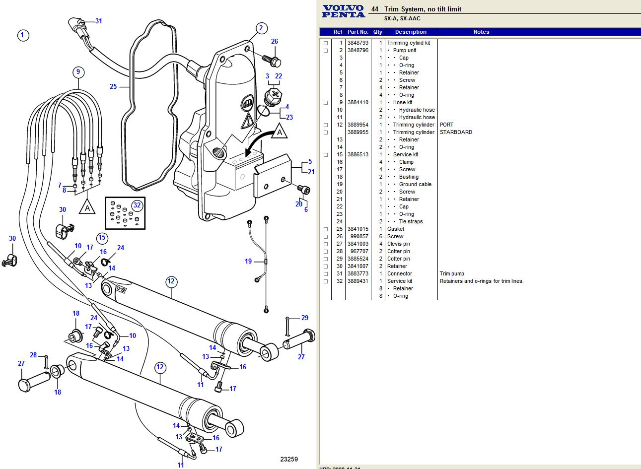 Volvo Penta Dps Trim Pump Wiring Diagram on