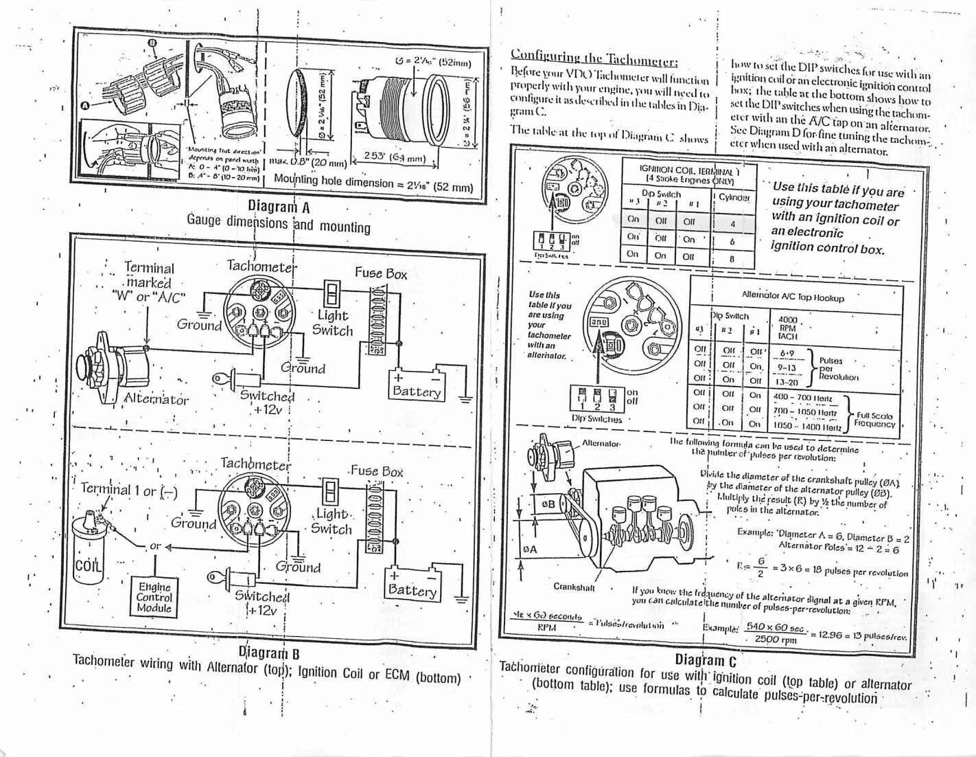 Vw Bug Vdo Electronic Speedo Wiring Diagram