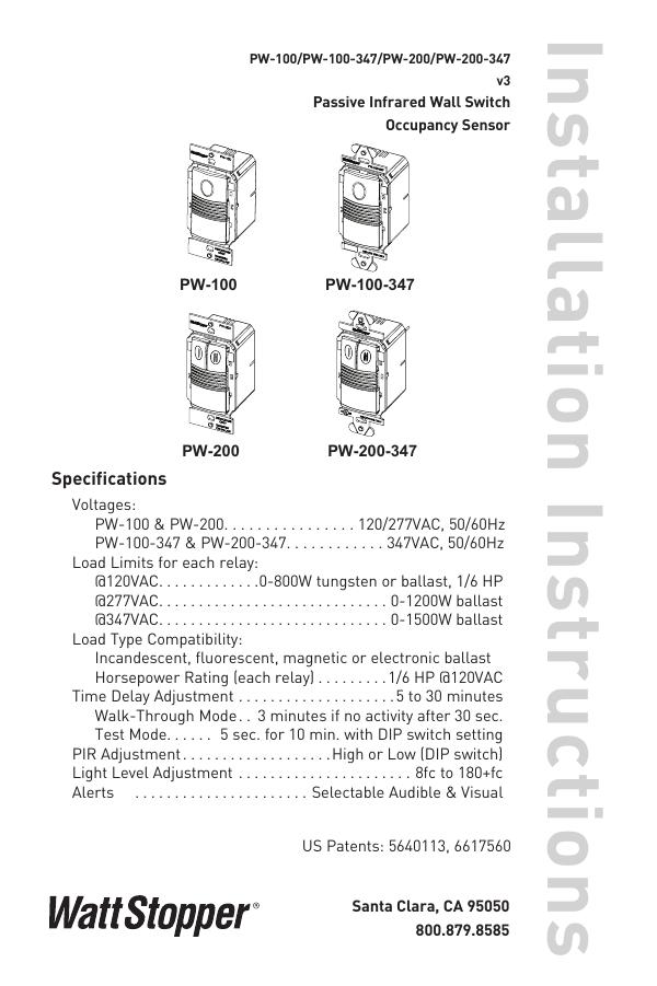 Wattstopper Dw100 Wiring    Diagram