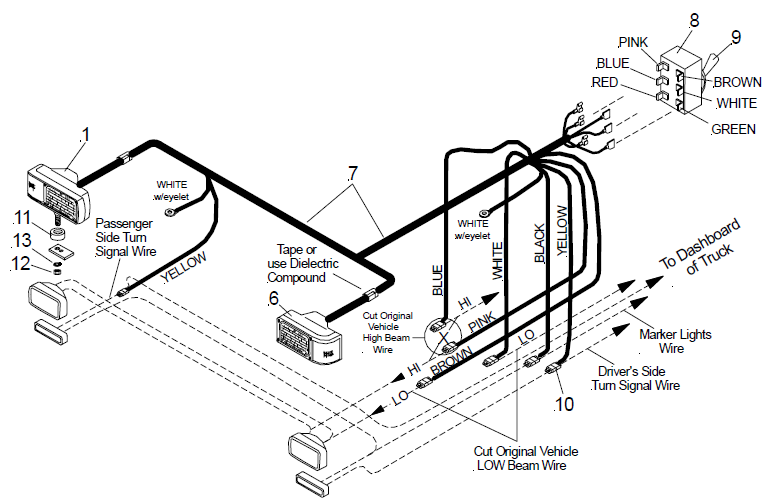 western unimount plow lights wiring diagram