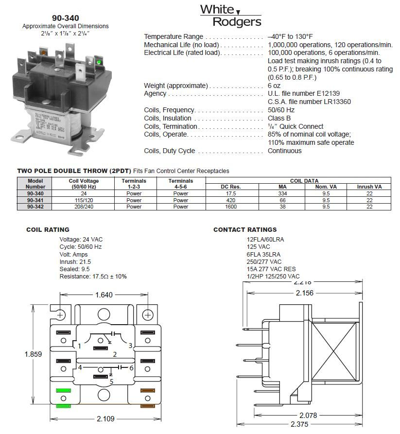 White Rodgers 8a05a 4 Wiring Diagram