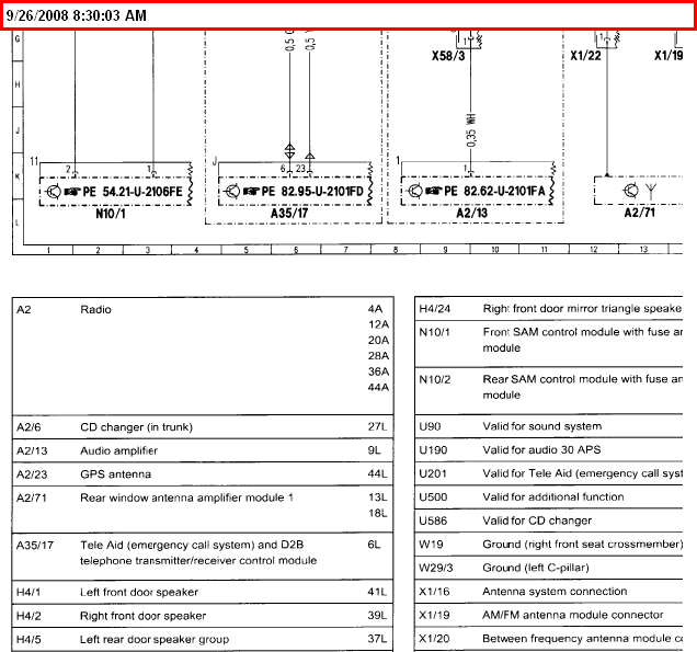 Wiring Diagram For 2003 Mercedes C230 Kompressor Radio