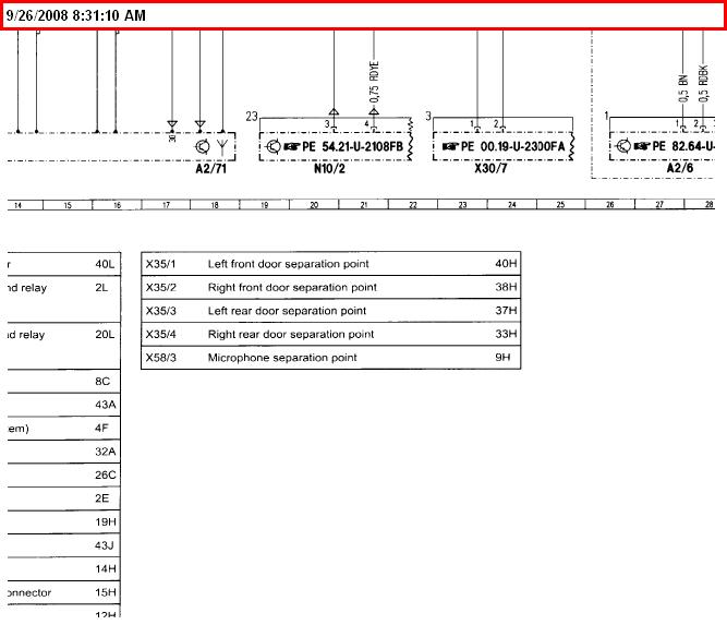 Wiring Diagram For 2003 Mercedes C230 Kompressor Radio