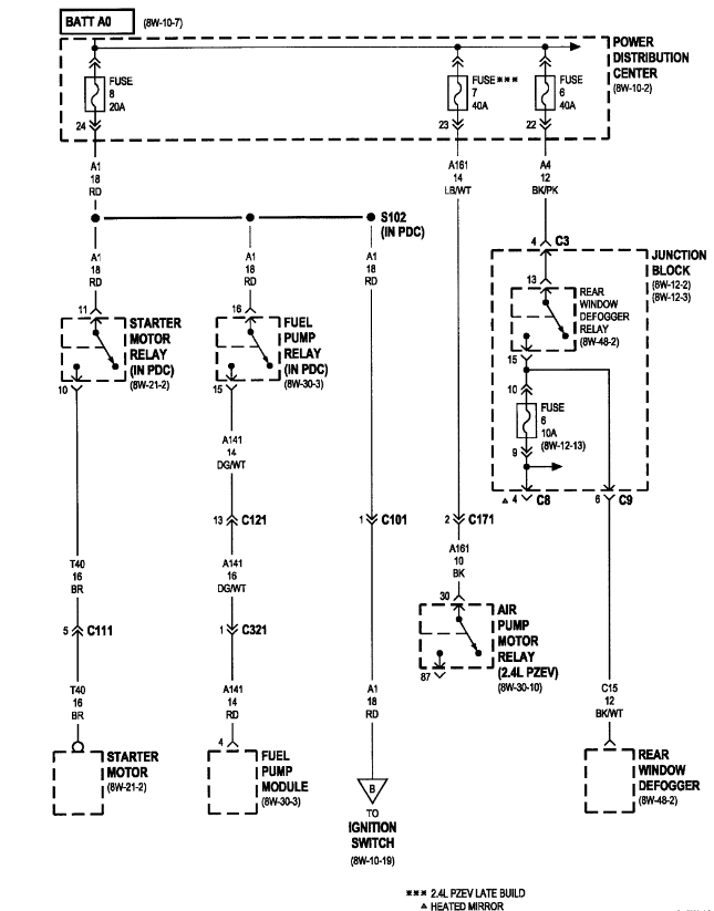 Wiring Diagram For 2004 Dodge Stratus Es 3 0 Fuel Pump