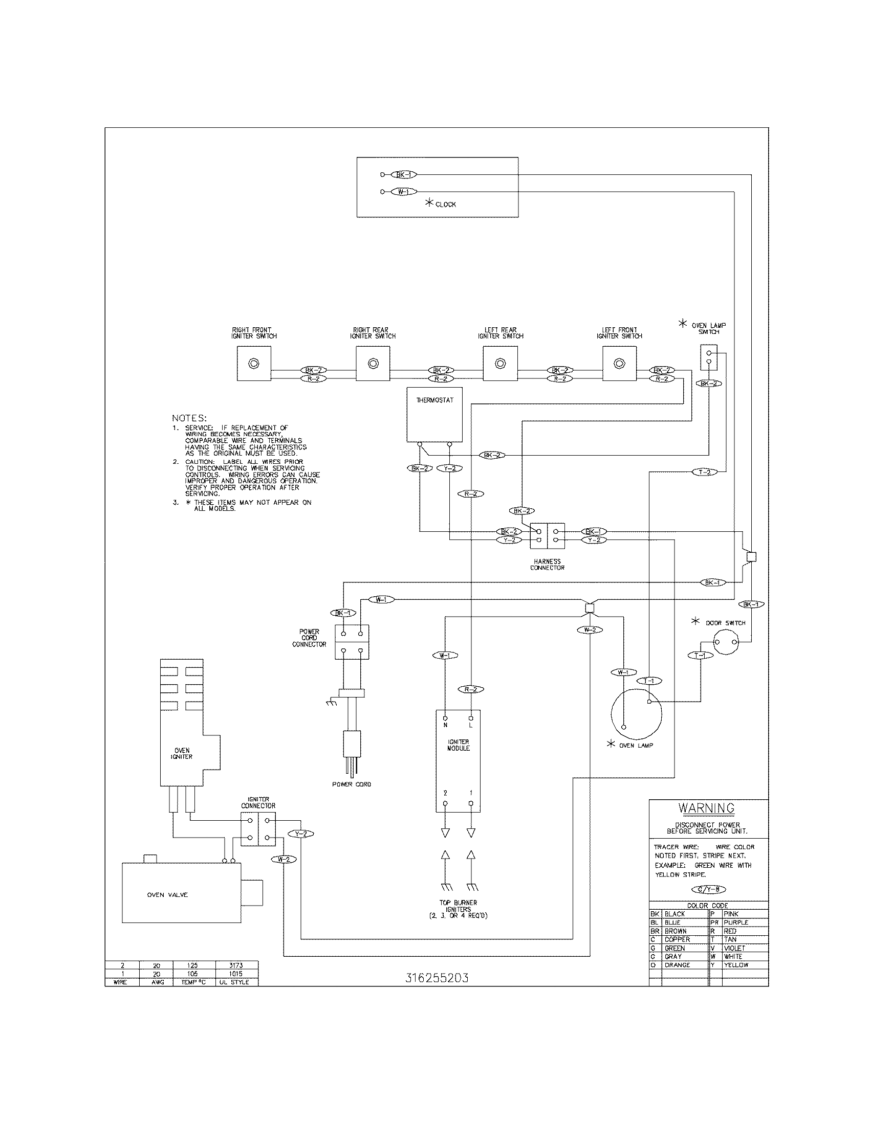 Wiring Diagram For A Tappan Gas Stove Igniter
