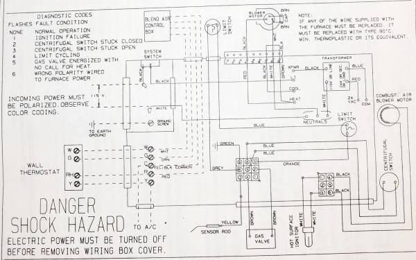 Wiring Diagram For Coleman Evcon Furnace
