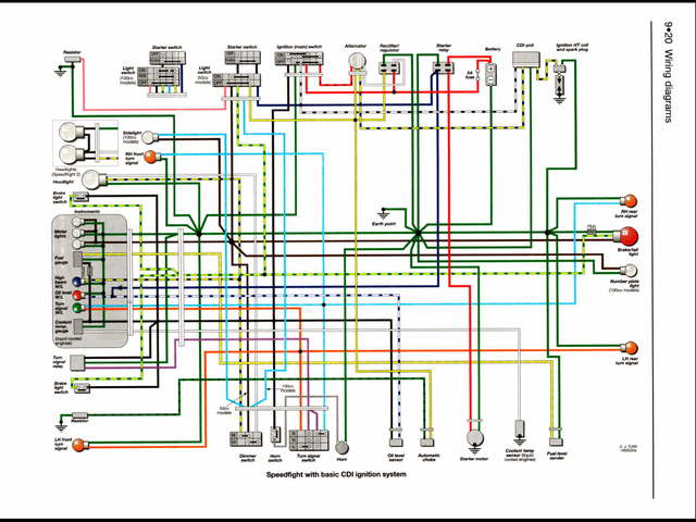 50cc Cy50 A Wiring Diagram - Wiring Diagrams Folder  Cc Scooter Ignition Wiring Diagram on