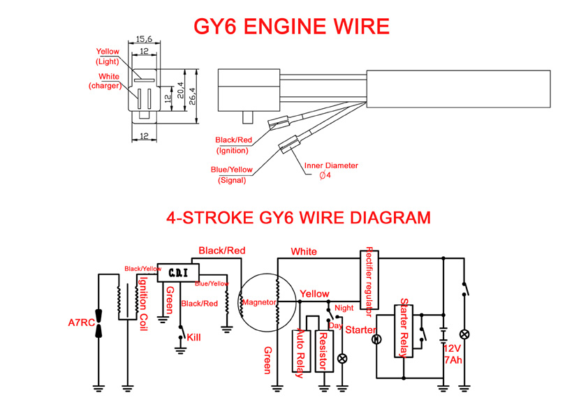 Wiring Diagram For Gy6 50cc Scooter Taotao Atm50 50cc on