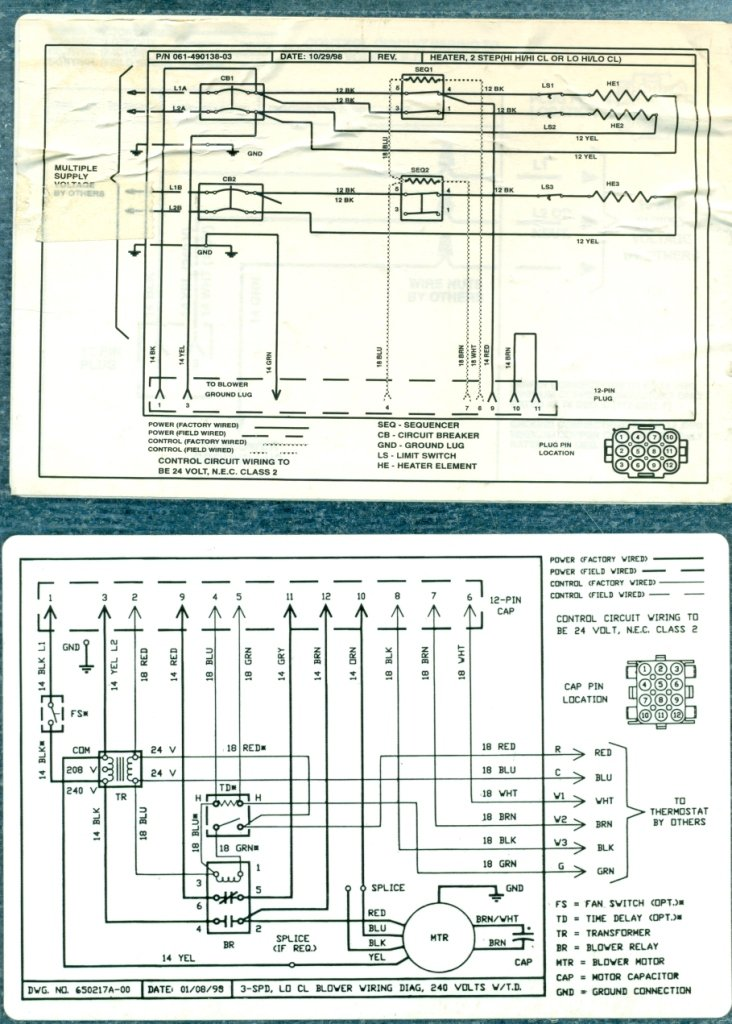 Wiring Diagram For Intertherm Mobile Home Air Handler With