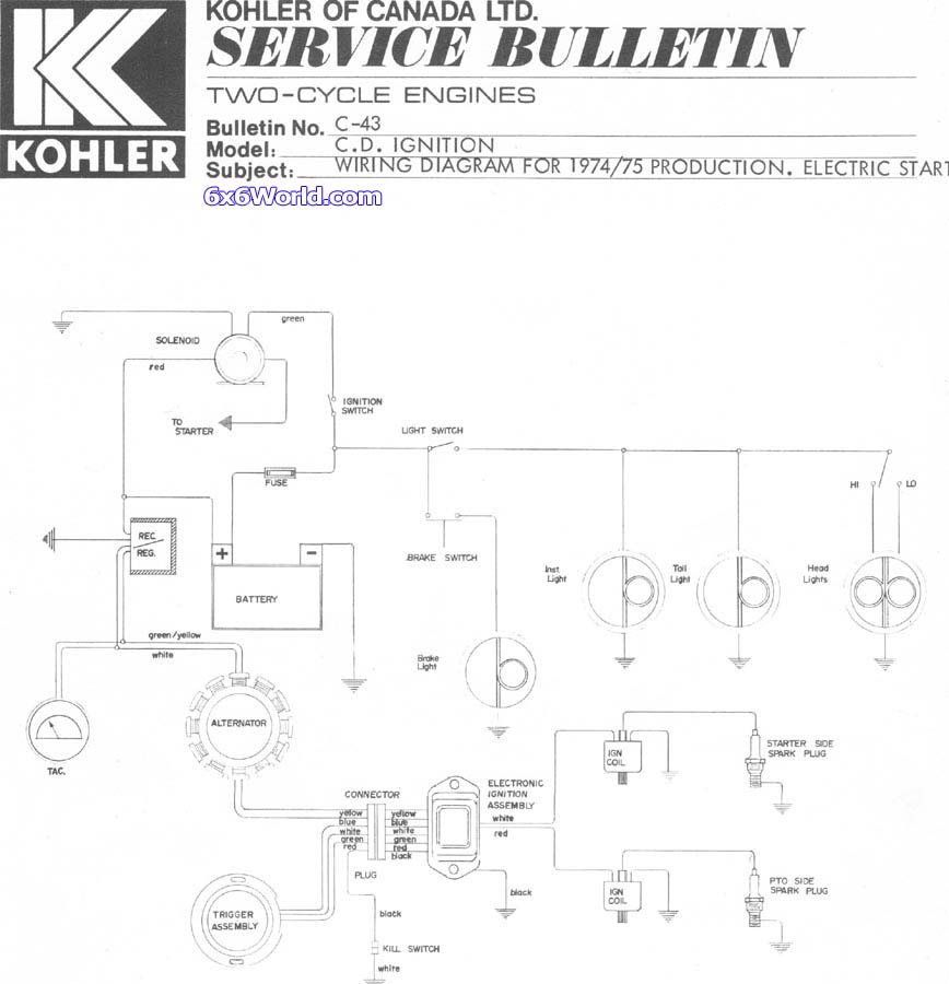 Wiring Diagram For Kohler 13cs