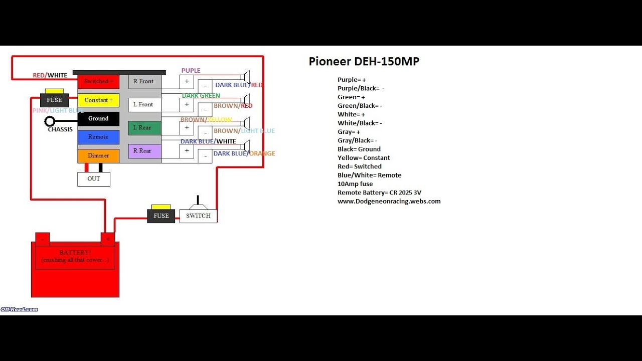 Wiring Diagram For Pioneer Car Radio Deh