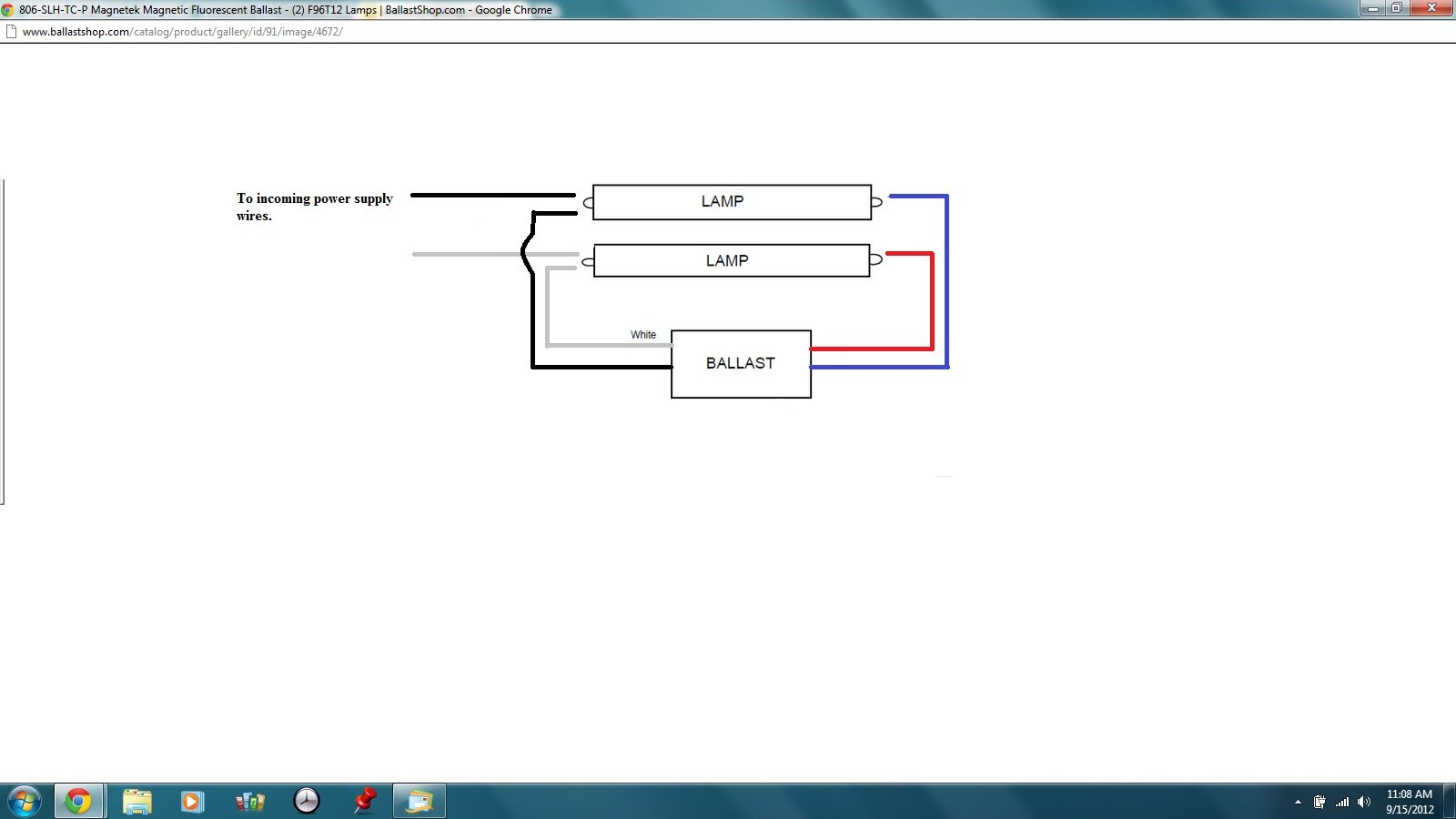 Wiring Diagram For T12 Ballast