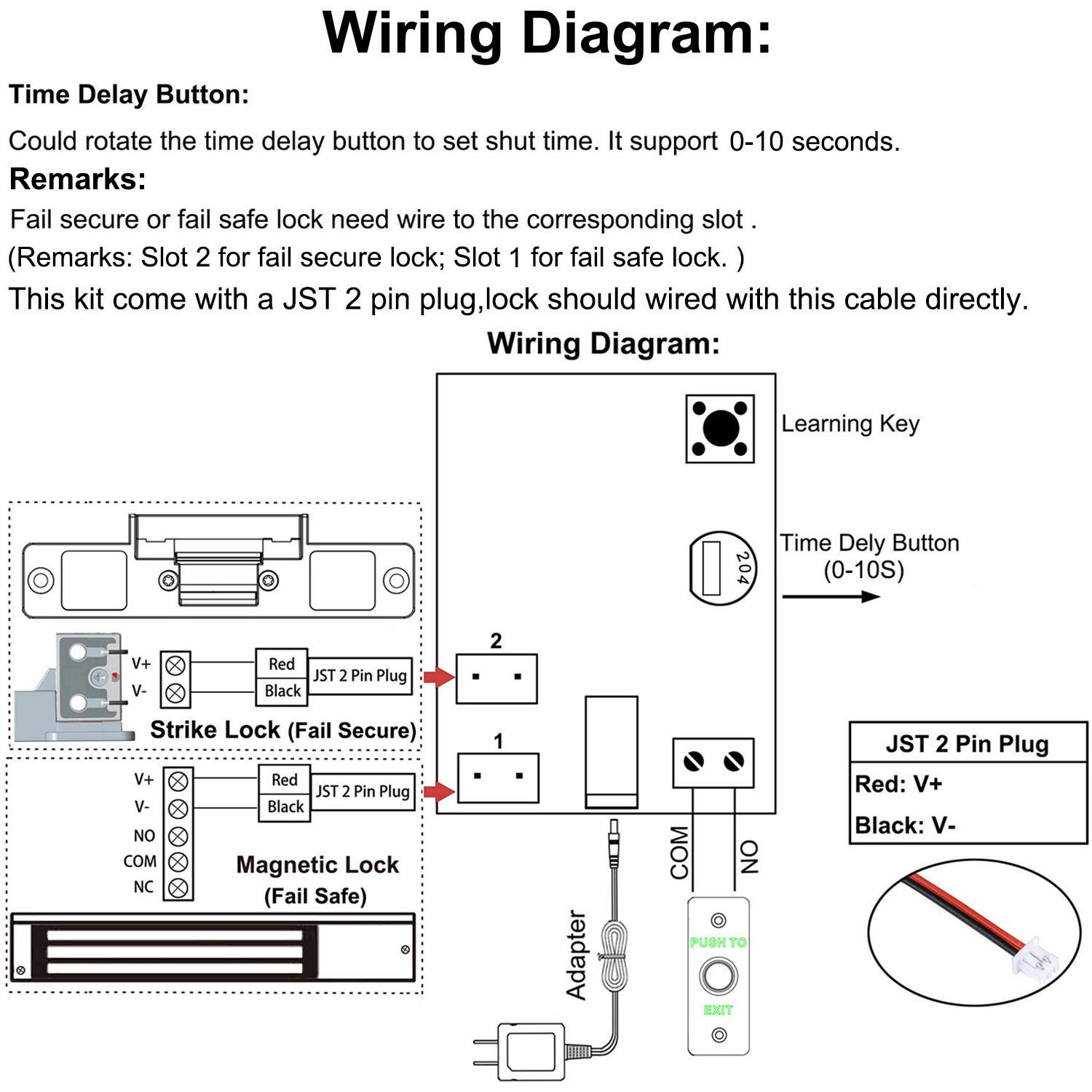 Wiring Diagram Of Providing Power To A Fail Safe Maglock