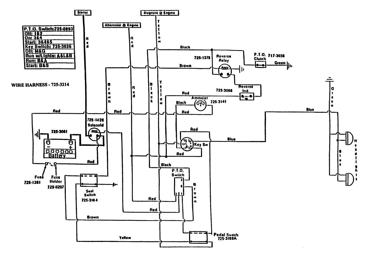 Wiring Diagram Xt2 Cub Cadet