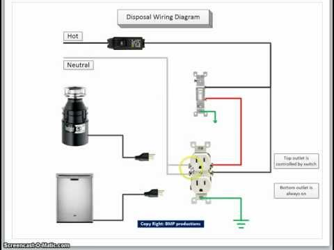 Wiring Dishwasher And Garbage Disposal Diagram on