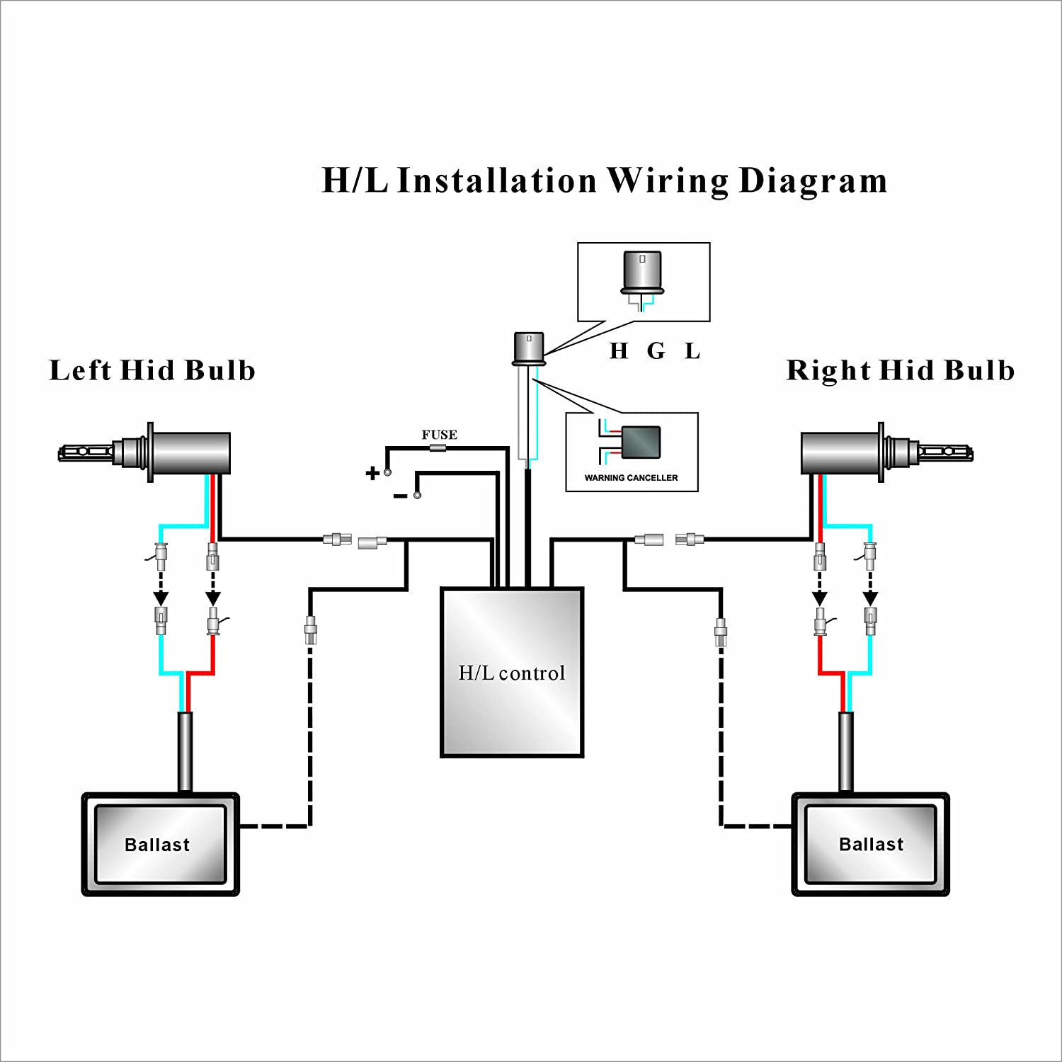 Xentec Hid H13 Wiring Diagram on