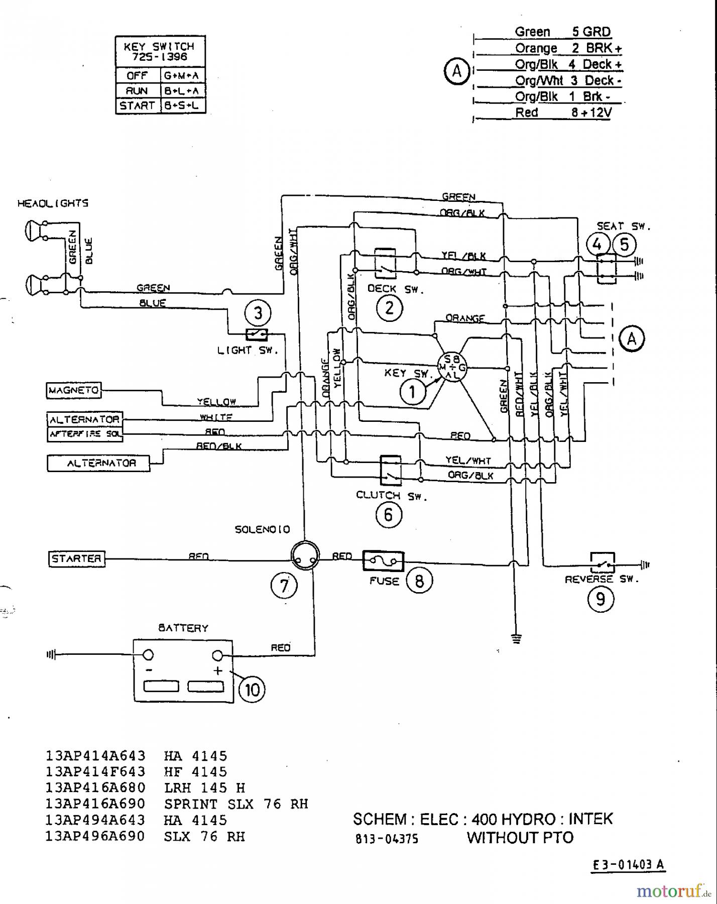 Yardman Riding Mower Wiring Diagram