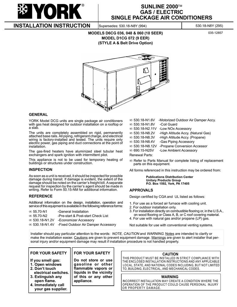York Zf300h Wiring Diagram